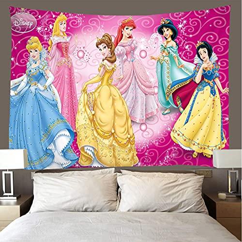 shuimanjinshan Tapiz Princesa de Hadas Tapiz De Pared Decoración De La Habitación Sábana De Picnic Mantel 180X230Cm