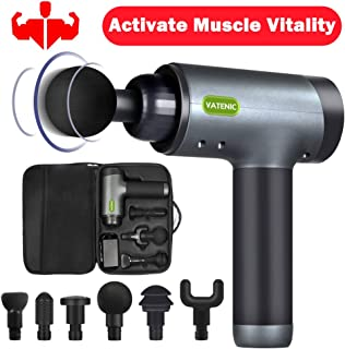 Muscle Massage Gun-Deep Tissue Percussion Massager for Pain Relief,Soreness Relief Recovery, Enhance Performance & Energize Body - 5 Speeds Adjustable Powerful Cordless Handheld&Rechargeable (Black)