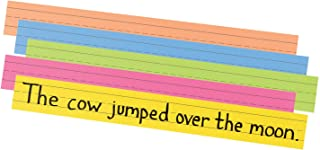 "Pacon Super Bright Sentence Strips, 5 Assorted Colors, 1-1/2"" Ruled 3"" x 24"", 100 Strips"