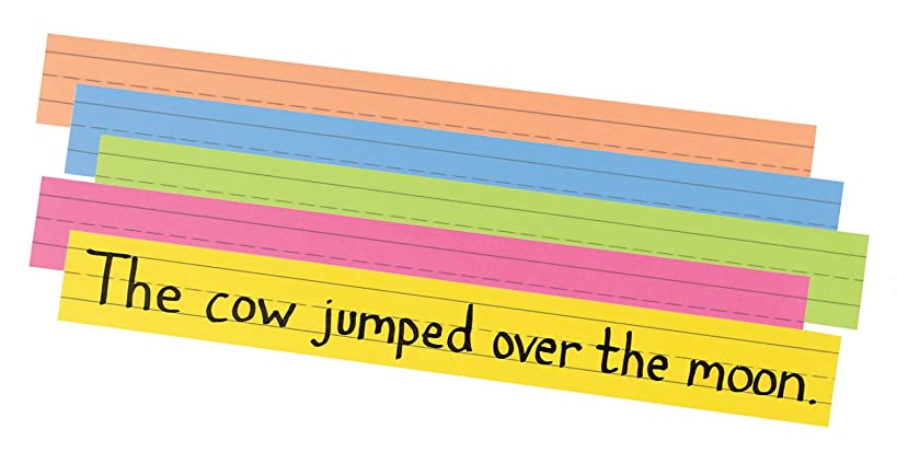 Pacon Sentence Strip Classroom Practice Paper, Assorted Colors (1733)