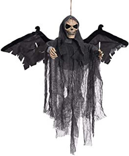Youbeny - Decoración de Halloween Animada al Aire Libre, espantosa, casa Bruja, decoración para Colgar, Urlando, Novia, Fantasma, Calavera, con Voz espantosa, Ojos parpadeantes inquietantes
