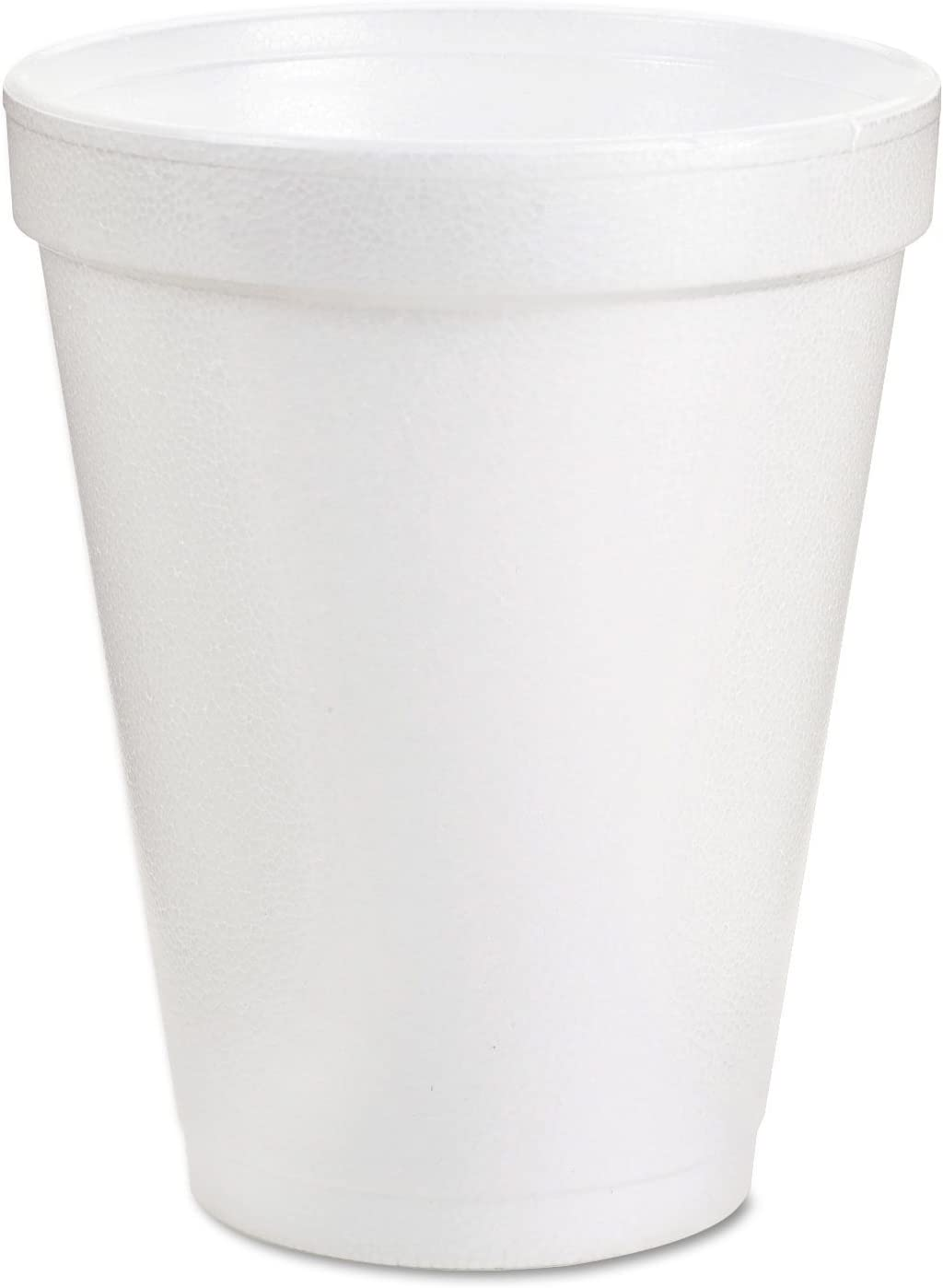 Dart 10J10 Foam Drink Cups, 10oz, White, 25/Bag, 40 Bags/Carton
