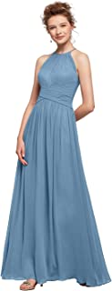 AW Halter Chiffon Bridesmaid Dresses Long Formal Dress for Women Maxi Party Prom Dresses