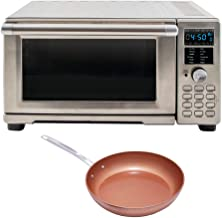 """NuWave Bravo XL Air Fryer/Toaster Oven Bundle with Forged Aluminum Duralon Ceramic Non-Stick Fry Pan (9.5"""") (2 Items)"""