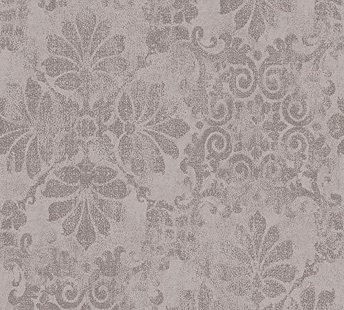 A.S. Création Vliestapete mit Glitter Memory Tapete mit Ornamenten barock 10,05 m x 0,53 m braun metallic Made in Germany 329875 32987-5