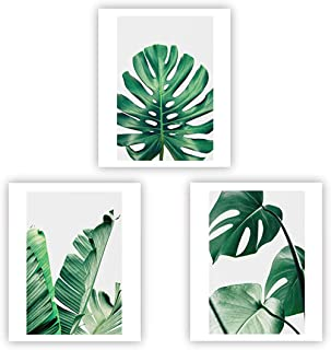 Barri Design Home Wall Art Décor Plants Posters Oil Paintings Posters Prints Watercolor Green Leaf Pictures Canvas Wall Art Wall Decorations 8