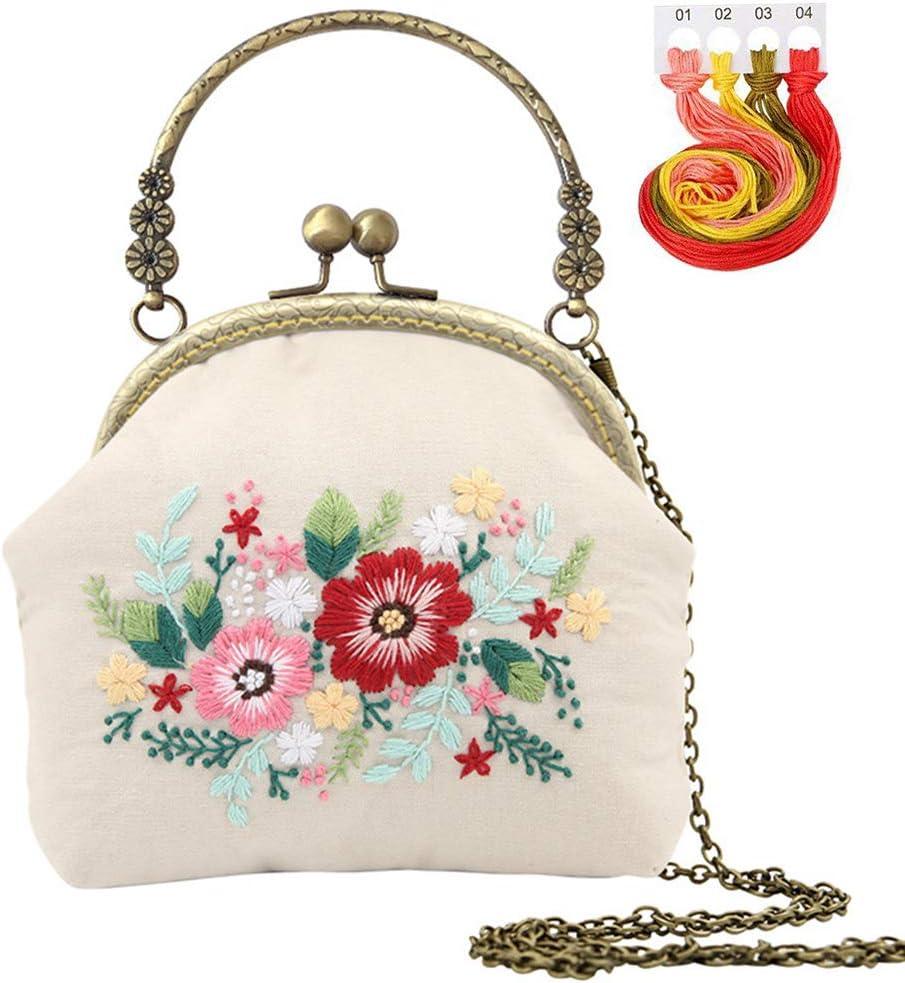 Licogel Embroidery mart Fees free Needle Kit DIY Fashio Cross Stitch Flower