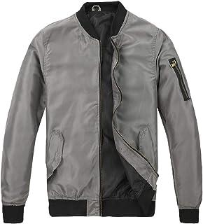 MADHERO Men's Lightweight Bomber Jacket Slim Fit Softshell Windbreaker