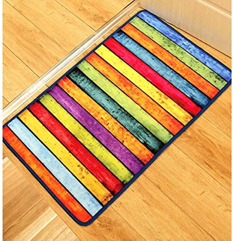 CarPET Moderne Retro Farbe Stripe Mats Personalisierte Personalisierte Fußmatte Mats Anti – Slip aus der Tür Mats, 60cm×90cm B01MEF5P2V