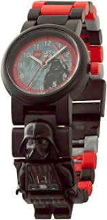 LEGO Star Wars 8021018 Darth Vader Kids Minifigure Link Buildable Watch | black/red | plastic | 25mm case diameter| analogue quartz | boy girl | official