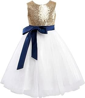 royal blue and gold flower girl dresses