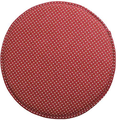 HZYDD Cojín de Silla Antideslizante Redondo, Cocina y Comedor Oficina High Silla Silla Pads Sponge Booster Cushion con Lazos 2pc-Rojos 2pc-35x3cm