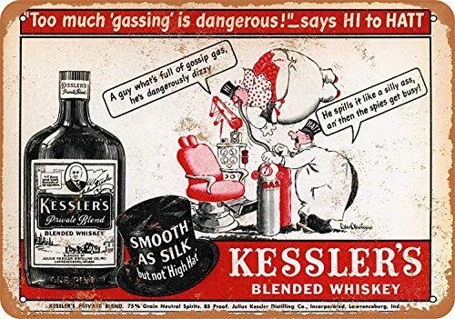 Henson Kessler'S Blended Whiskey Nostalgische Kunst Mooie Traditionele Tin Teken Metaal Geschilderd Moderne Wanddecoratie Art Poster Game Kamer Huis Regels Straat Teken
