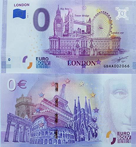0-Euro-Schein London (2020/1) Souvenir England Null Euro € Sammler