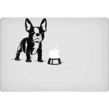 Car Tablet Vinyl Decal Show Dog Breed Bella the French Bulldog Sniffing