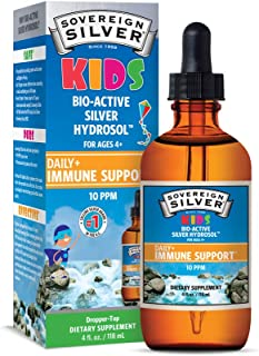 Sovereign Silver Bio-Active Silver Hydrosol for Kids Immune Support, 4 oz.