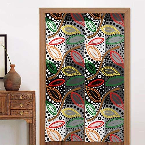 Qian Mu888 Autumnal A-ust-ra-lis X -Patchwork Plaid Ein Paar Verdunkelungsvorhänge Wandbehänge zum Schutz der Privatsphäre geeignet für Räume