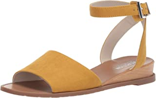 Women's Jolly Low Wedge Sandal with Ankle Strap Flat