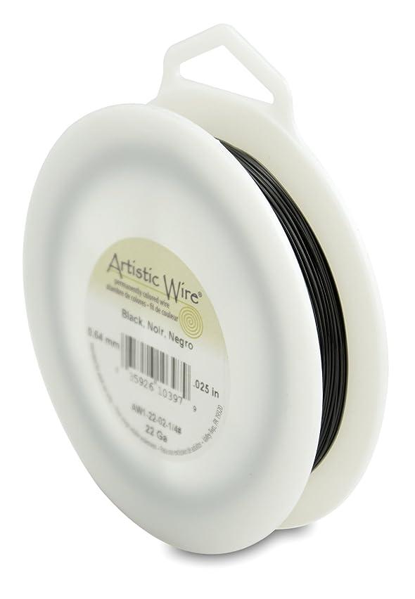 Artistic Wire 22-Gauge Black Wire, 1/4-Pound
