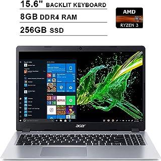 2020 Acer Aspire 5 15.6インチ FHD 1080P ノートパソコン (AMD Ryzen 3 3200U 3.5GHz 8GB DDR4 RAM、256GB SSD、AMD Radeon Vega 3、バックライトキーボー...