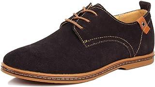 Wealsex Zapatos Hombre Oxford Cuero Derby Casual Ante Cordones Boda Verano Moda Casuales Calzado