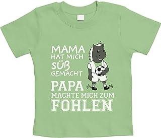 Shirtgeil Mama machte Mich süß Papa machte Mich zum Fohlen Unisex Baby T-Shirt Gr. 66-93