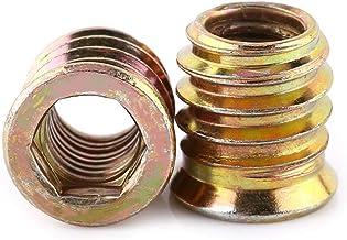 FTVOGUE 20 stuks binnenzeskant aandrijfkopschroef koolstofstaal inzet moeren schroefdraad voor houten meubels (M8 x 15 mm)