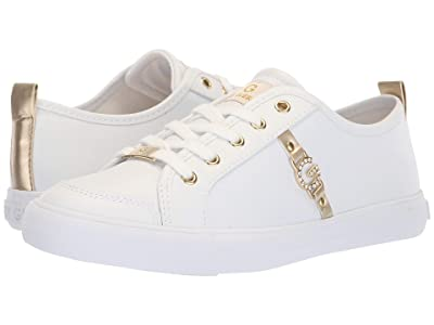 G by GUESS Banx2 (White/Gold/Gold) Women