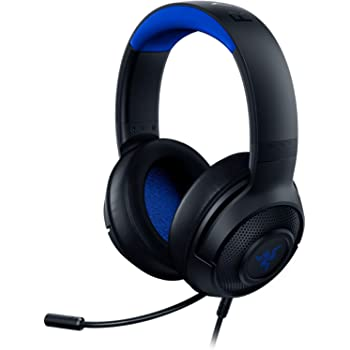 Razer Kraken X Ultralight Gaming Headset: 7.1 Surround Sound Capable - Lightweight Frame - Bendable Cardioid Microphone - for PC, Xbox, PS4, Nintendo Switch - Blue/Black (Renewed)