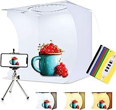 PULUZ 30cm Ring Light Photo Studio Light Box, Adjustable Portable Photography Shooting Light Tent Kit with White/Warm/Soft...