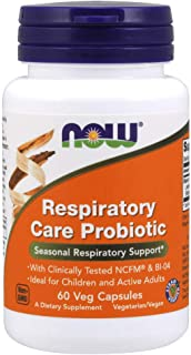 NOW Supplements, Respiratory Care Probiotic, with Clinically Tested NCFM® & BI-04, 60 Veg Capsules