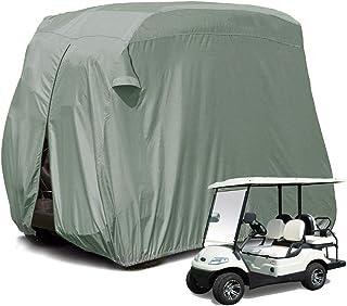 Rziioo Outdoor Golf Cart Abdeckung für EZ GO, Club Car, Yamaha, Wagen Abdeckung mit 210D Material + PVC Beschichtung Wasserdicht Staubprävention,L