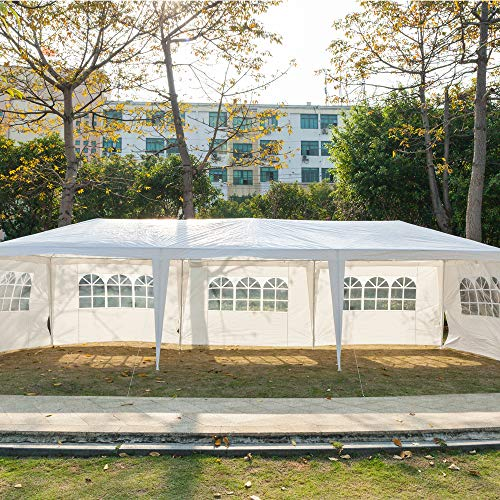 VINGLI 10' x 30' Canopy Wedding Party Tent with 8 Removable Sidewalls,Upgraded Steady Sunshade Shelter Shed Outdoor Event Gazebo Pavilion Patio