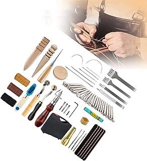XDXDO Ensembles D'outils D'artisanat en Cuir, 59 Pièces Kit De Travail D'outils De Couture en Cuir, pour Kit D'artisanat D...