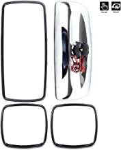 ECCPP 4PCS Mirrors Chrome Housing Driver or Passenger Side Heavy Duty Mirrors for 2004-2016 Freightliner Columbia Freightliner M2 Manual Adjusted Heated