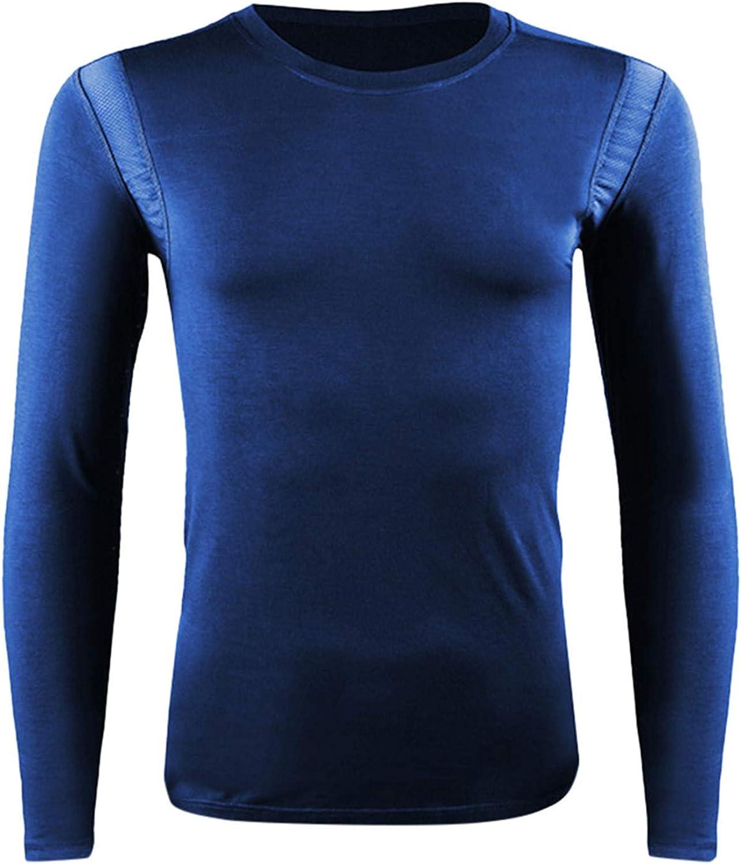 Man Tops Workout,Men Elastic Slim Breathable Thermal Underwear Mesh Sweatshirt Top Blouse Men's Blouse