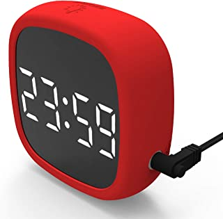 DollaTek LED digital Travel Snooze väckarklocka dimning lätt att lagra magnet elektronisk klocka storbild silikon röststyr...