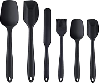 Beauenty Silicone Spatula, 6 Piece Non-scratch Heat Resistant Rubber Spatula with Stainless Steel Core for Cooking
