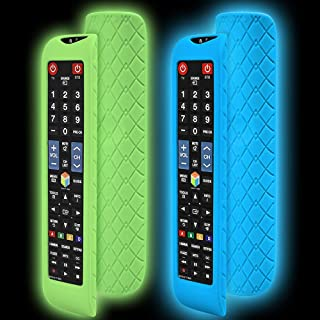 2 Pack Silicone Protective Cases for Samsung BN59-01178W AA59-00652A BN59-01178B Universal Remote Control, Shockproof TV R...