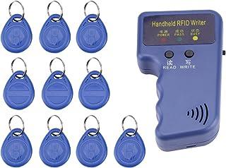 Photocopieuse de Poche Portatif 125KHz RFID ID Copieur/Graveur/Lecteurs/Duplicateur avec 10 PCS ID Balises inscriptibles d...