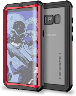Ghostek Galaxy S8 Plus Waterproof Case, Nautical Series for Samsung Galaxy S8+ | Slim Underwater Full Body Protection Shockproof Dirtproof Snow-Proof Dust-Proof Adventure Tough Swimming Diving (Red)