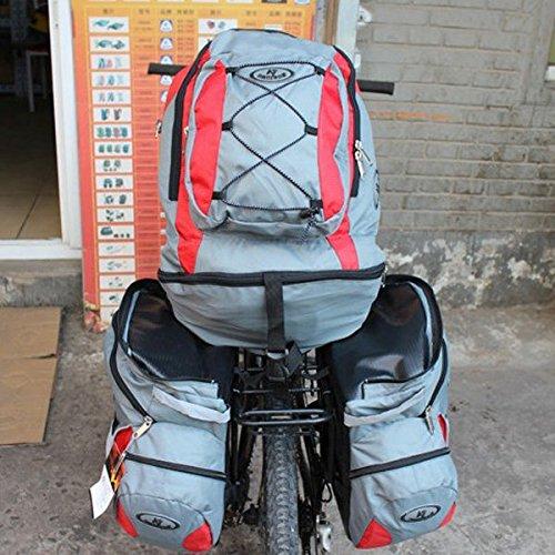 PhilMat Staccabile Tre in Uno 68L capacità Lager Zaino Bicicletta