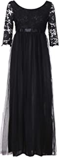 ✫Solid Bridesmaid Long Maxi Dress,Evening Prom Gown A-Line Dress for Women