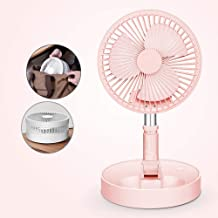 YXZQ Handheld Fan, Mini USB Powered Telescopic Folding Retracwith 4 Speeds with Rechargeable 7200mah Battery for Travel Of...