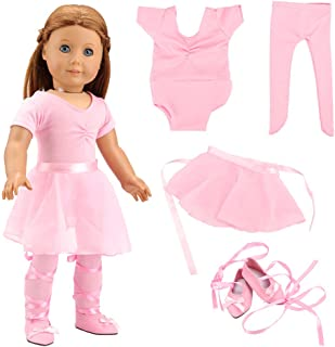 3155cb35688 Barwa 18 Inch Doll Clothes Ballet Ballerina Outfits Dance Dress Custume for American  Girl Dolls