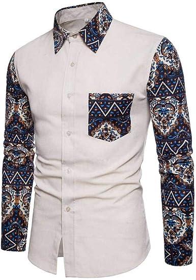 Camisas para Hombres Camisa De Hombres Manga Larga Camisa ...