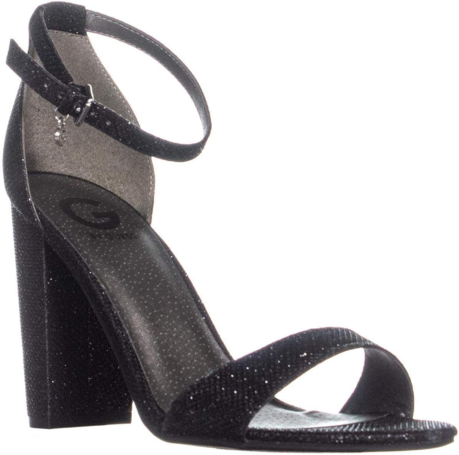 GUESS G Shantel Ankle-Strap Sandals, Black