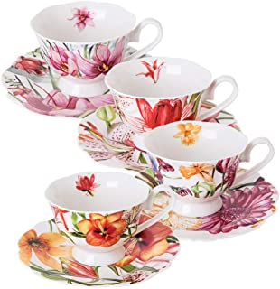 Eileen's Reserve teacup and saucer set, new bone china tea party gift, set of 4