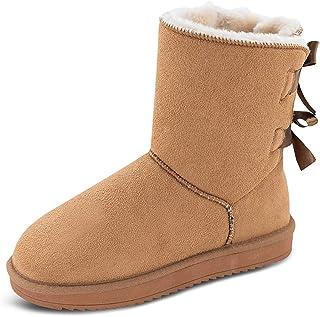 [TF STAR] ムートンブーツ スノーブーツ レディース シューズ ボア フラット 冬用 暖かい スウェード通気 靴 防寒 軽量 滑り止め 厚底 おしゃれ カジュアル