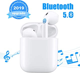 Bluetooth Headset 5.0 in-Ear Headphones Sports Headphones Smart Noise-Reducing Stereo Bluetooth Headset for Apple Airpods/Android/iPhone/Samsung